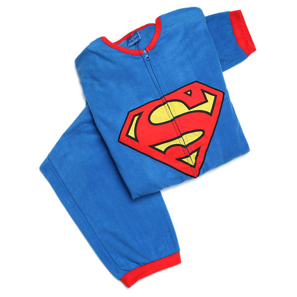Superman Fleece Pajamas with Cape