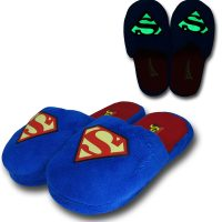 Superman Glow In The Dark Symbol Slippers