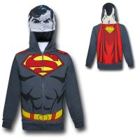 Superman Grey Kids Caped Costume Hoodie