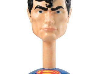 Superman Head Ceramic Molded Goblet