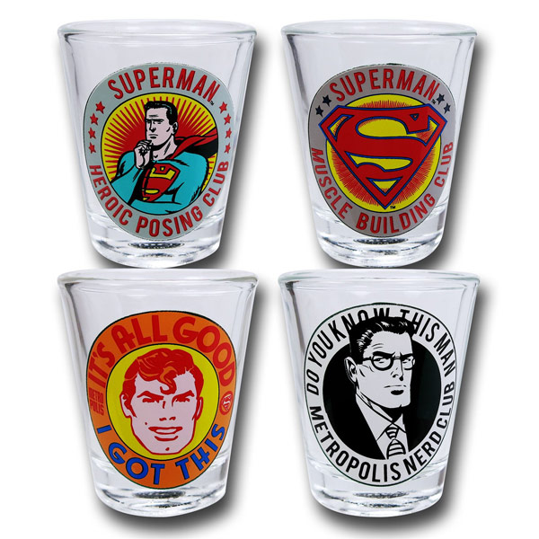 Superman Its All Good Shot Glass Set