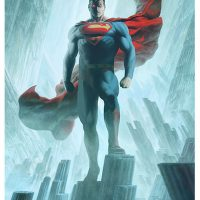 Superman Justice League Trinity Art Print