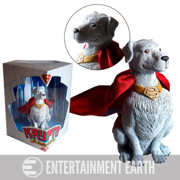 Superman Krypto the Superdog Statue