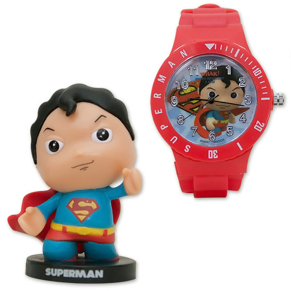 Superman Little Mates Whak Watch and Minifigure