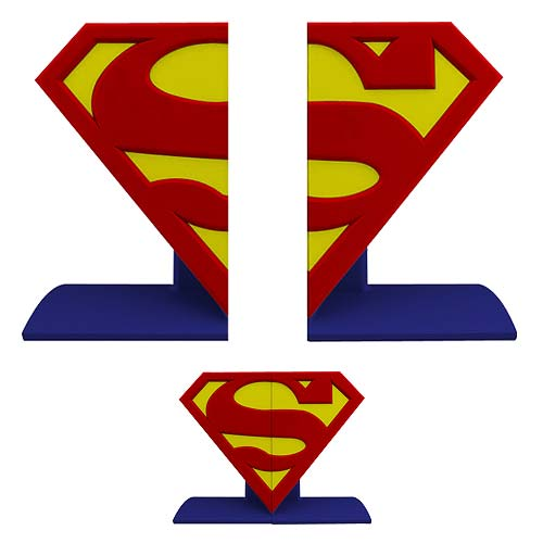 Superman Logo Bookends Statues