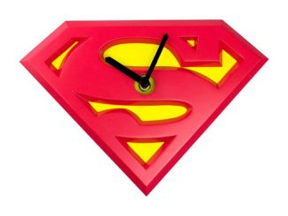 Superman Logo Wobble Wall Clock