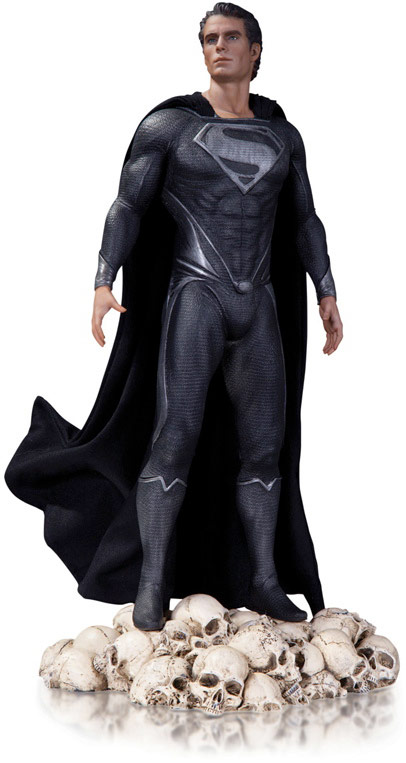 Superman Man of Steel Black Variant Statue