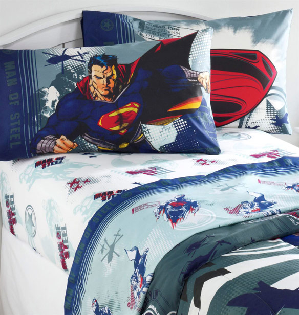 Superman Man of Steel Twin Sheet Set
