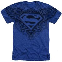 Superman Man of Steel Winged Logo T-Shirt