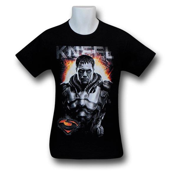 Superman Man of Steel Zod Kneel TShirt