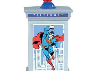 Superman Phone Booth Cookie Jar