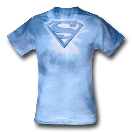 Superman Power of the Sun Sublimated T-Shirt Back