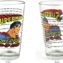 Superman Powerful Pick-Up Lines Pint Glass