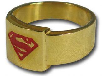 Superman Red Symbol Gold Ring