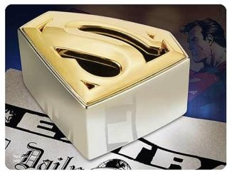 Superman Returns Gold and Silver Plated Paperweight