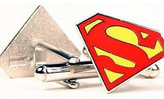 Superman S-Shield Full Color Cuff Links