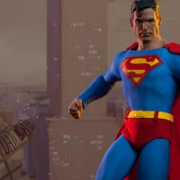 Superman Sixth Scale Figure Daily Planet Scene