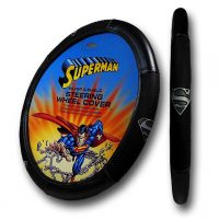 Superman Silver Shield Steering Wheel Cover