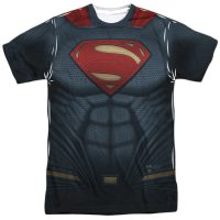 Superman Suit Sublimated Batman v Superman T-Shirt
