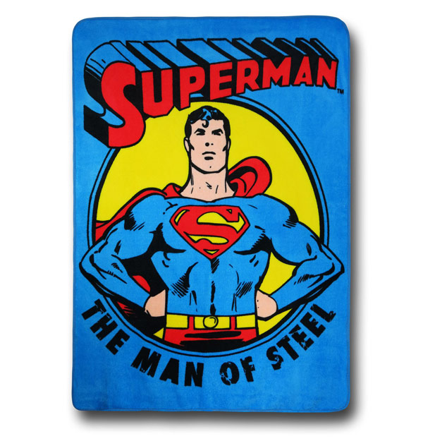 Superman The Man of Steel Fleece Blanket