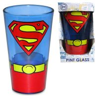Superman Uniform 16 oz. Pint Glass