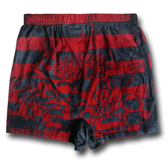 Superman V Batman Red Stripe Boxers 2