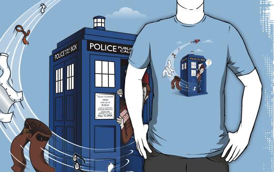 Superman Visits TARDIS Shirt