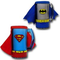 Superman and Batman Caped Costume Mug With Handle