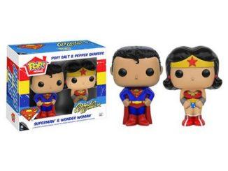 Superman and Wonder Woman Pop! Home Salt and Pepper Shaker Set