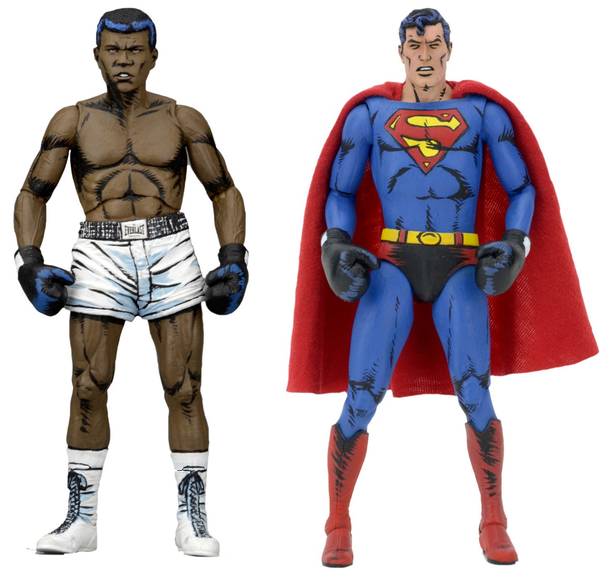 Dc Comics Superman Vs Muhammad Ali 7 Inch Action Figure 2 Pack