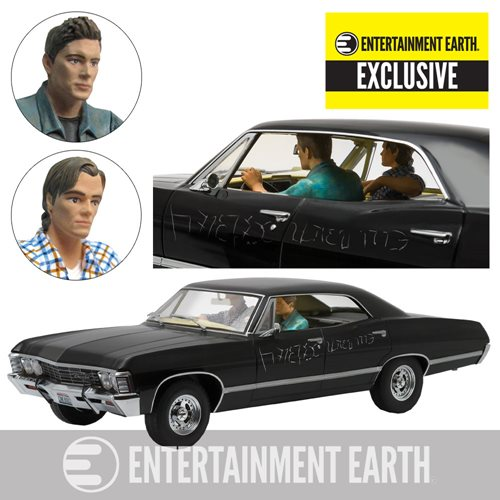 Supernatural 1967 Chevrolet Impala Sport Sedan 1-18 Scale Die-Cast Metal Vehicle with Sam and Dean Figures