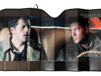 Supernatural Castiel and Dean Winchester Auto Sunshade
