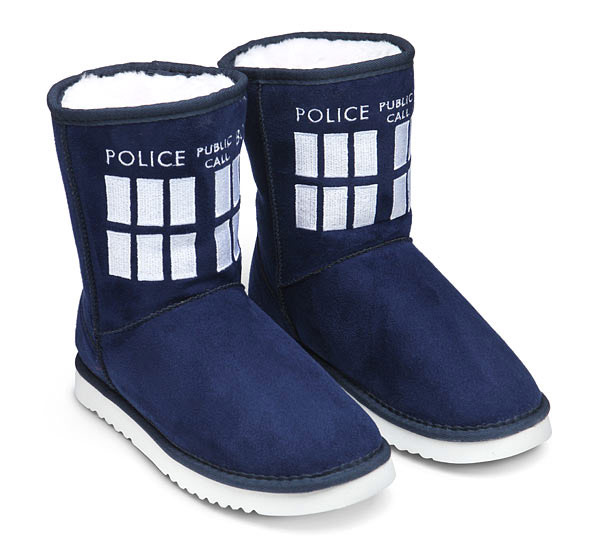 TARDIS Boot Slippers