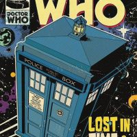 TARDIS Comic Book Cover Poster