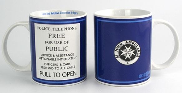 TARDIS Police Box Sign Mug