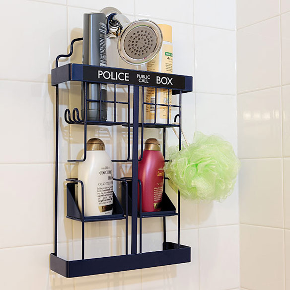TARDIS Shower Rack