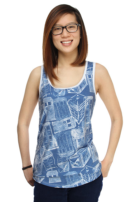 TARDIS Sketch Ladies Tank Top