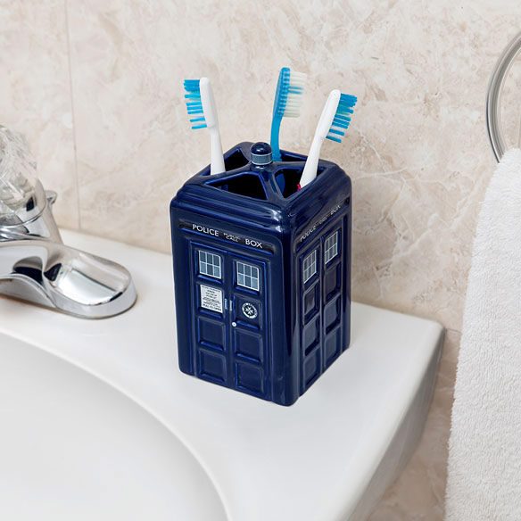 TARDIS Toothbrush Holder