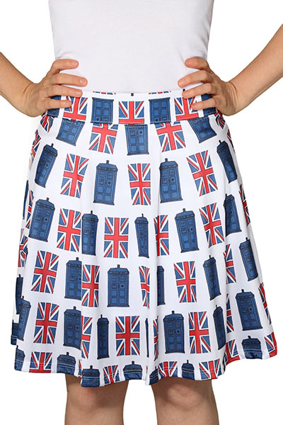 TARDIS Union Jack Skirt