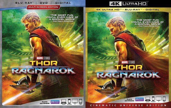 THOR: RAGNAROK Blu-ray 4K UHD