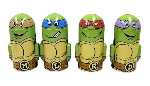 TMNT Domed Tin Bank Set