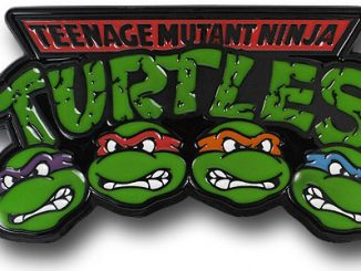 TMNT Heads Metal Belt Buckle