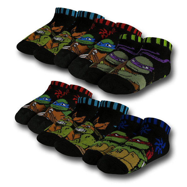 TMNT Kids Black Socks