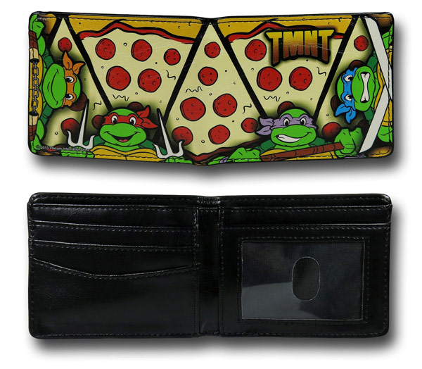 TMNT Pizza Pattern Wallet