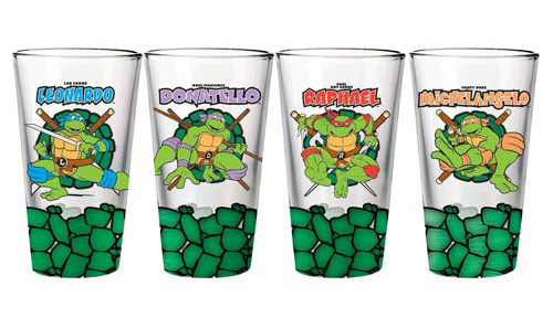 TMNT Team Pint Glasses