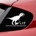 TRex Says Your Stick Family Was Delicious Decal