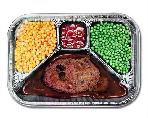 TV Dinner Style Metal Serving Tray