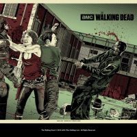TWD Maggie and Glenn Art Print