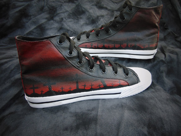 TWD Rick Grimes Graveyard Canvas High-Top Shoes
