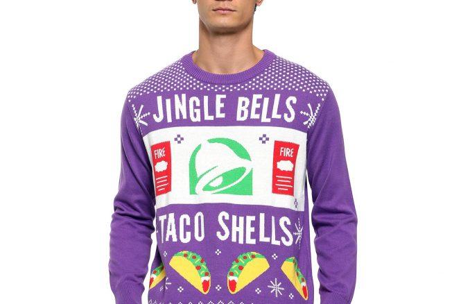 Taco Bell Jingle Bells Taco Shells Ugly Christmas Sweater